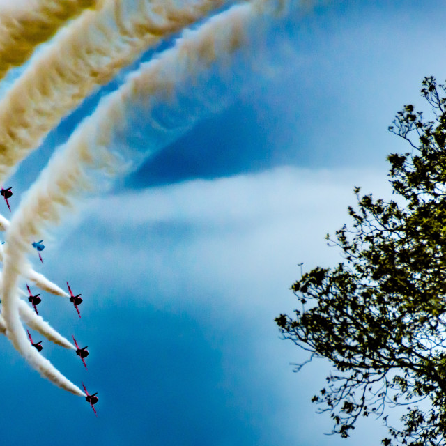 """Red Arrows Fly By"" stock image"