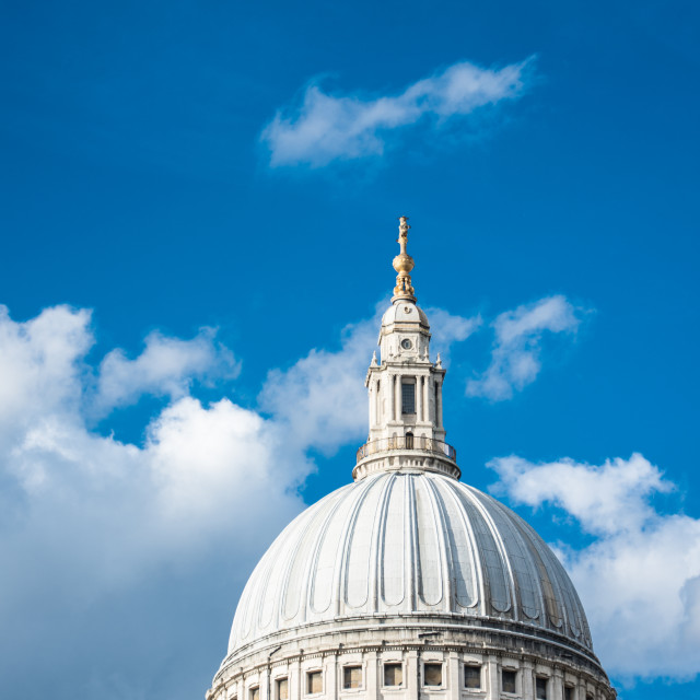 """Dome of St Paul's Cathedral"" stock image"