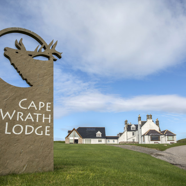 """Cape Wrath Lodge"" stock image"