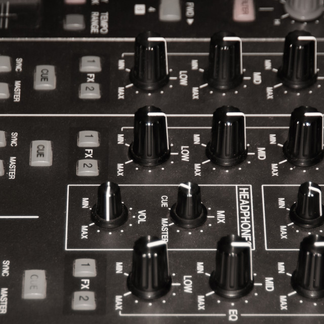 """""""Audio mixing console"""" stock image"""