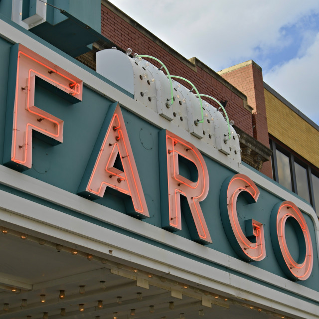 """Fargo Theater Sign"" stock image"