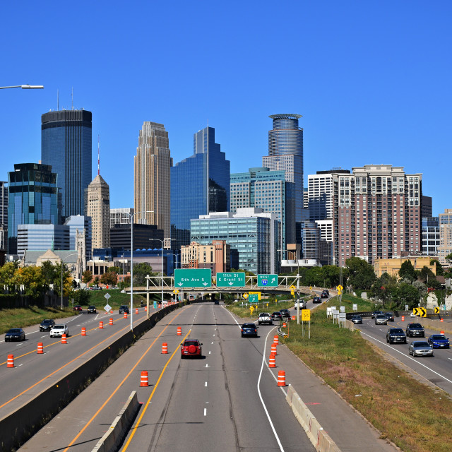"""Minneapolis Skyline"" stock image"