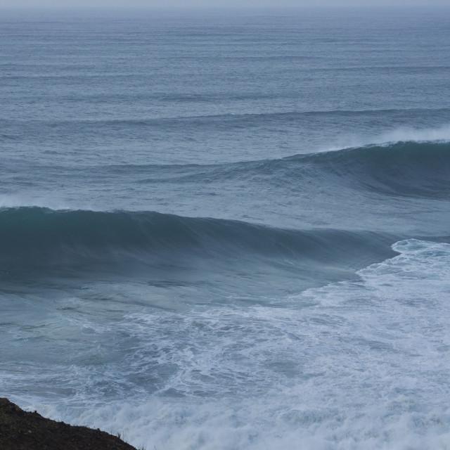 """Nazare surfer"" stock image"