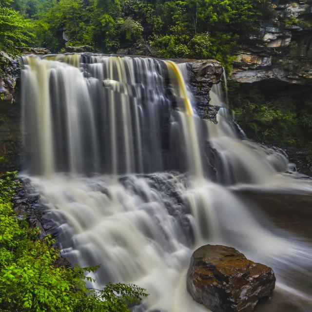 """Black Water Falls"" stock image"