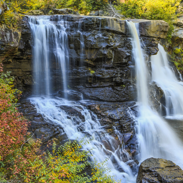 """Autumn Colors at Black Water Falls"" stock image"