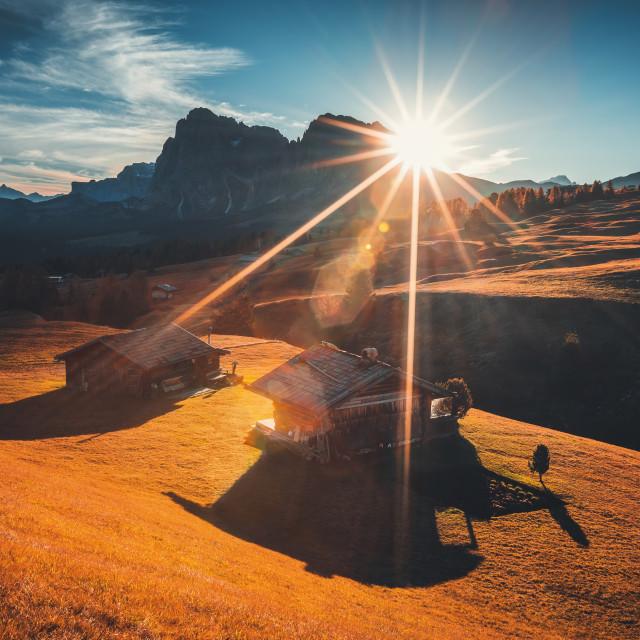 """""""Alpe di Siusi (Seiser Alm), Dolomite Alps, Italy."""" stock image"""