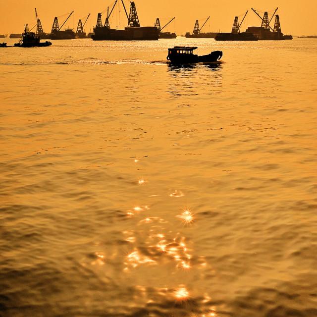 """Yau Ma Tei, Hong Kong"" stock image"
