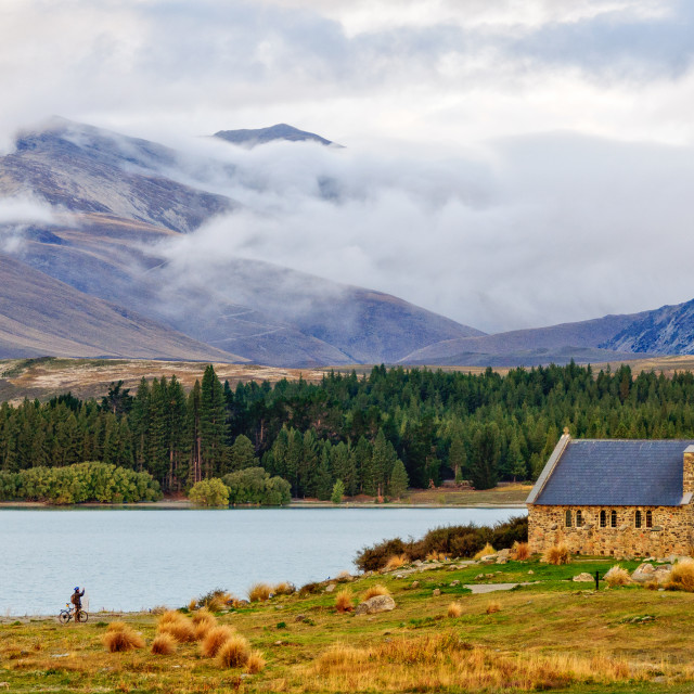 """Church of the Good Shepherd 2 - Lake Tekapo"" stock image"