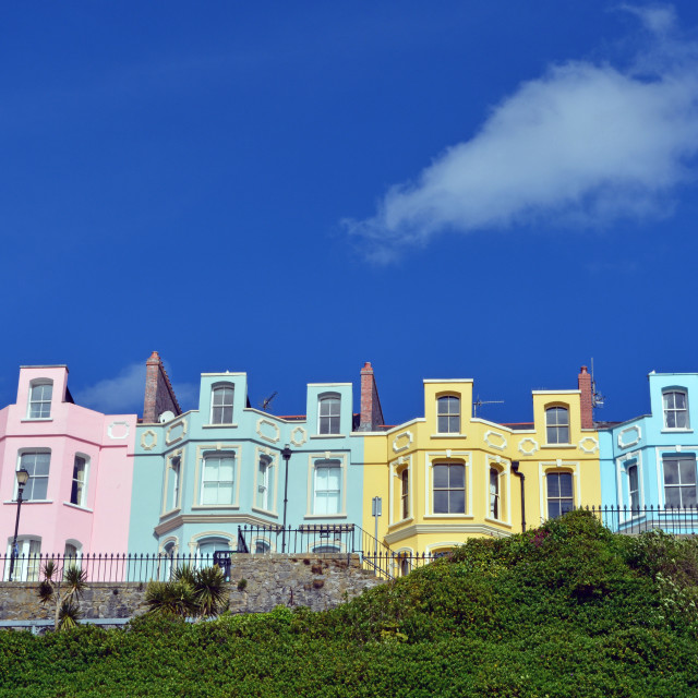 """""""Terraced Housing Most Colourful"""" stock image"""