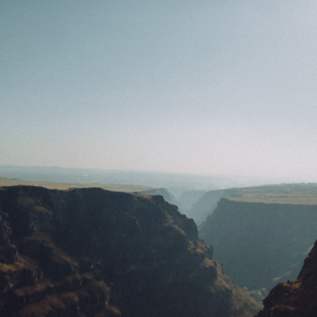 """""""Foggy canyon"""" stock image"""