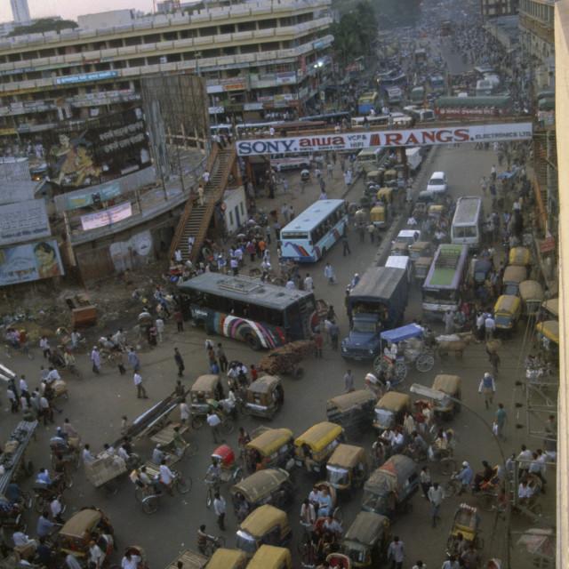 """DHAKA BANGLADESH Congestion on the North South Road ."" stock image"