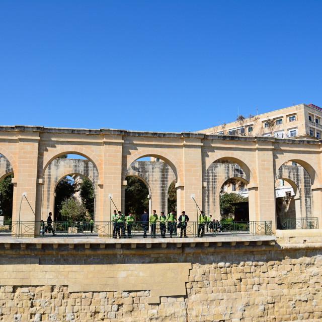 """Lower Barrakka gardens in Valletta, Malta"" stock image"