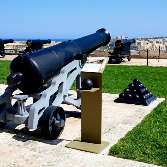 """""""Upper Barrakka Gardens in Valletta, Malta"""" stock image"""