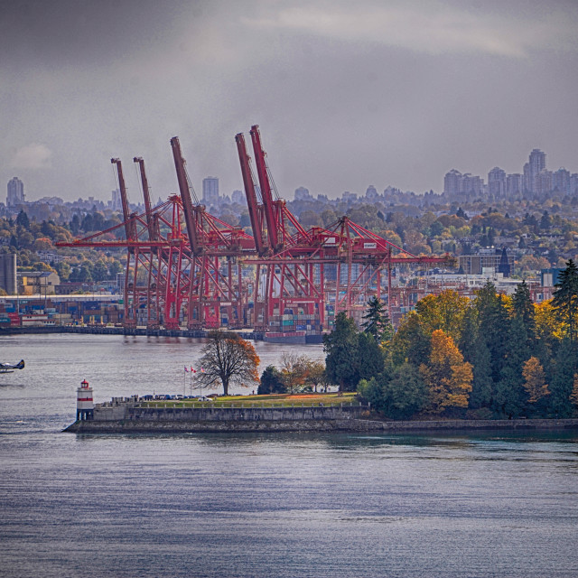 """Vancouver Harbour Autumn"" stock image"