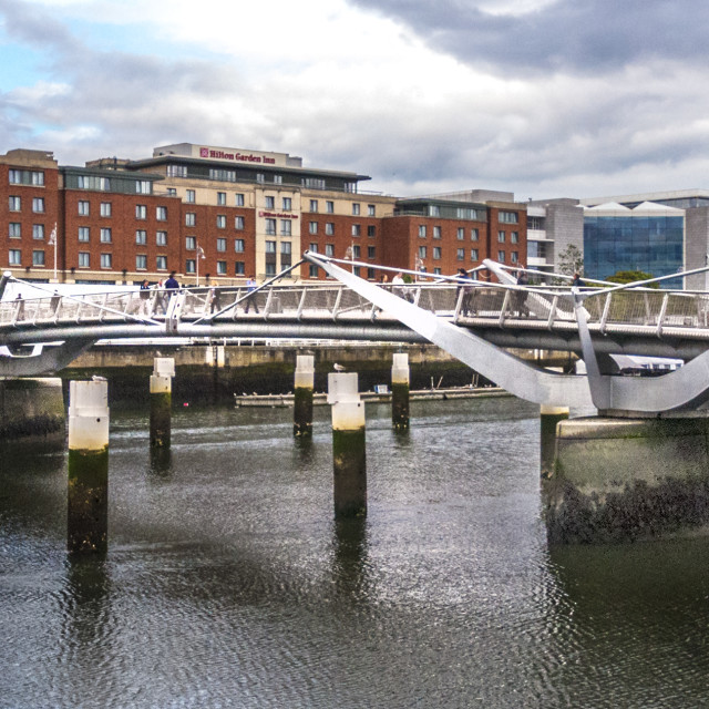 """Dublin Bridge"" stock image"