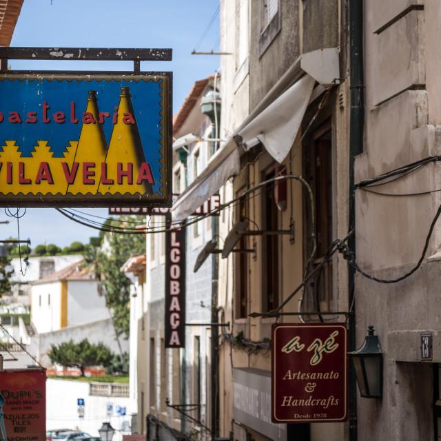 """Sintra Street Scene"" stock image"