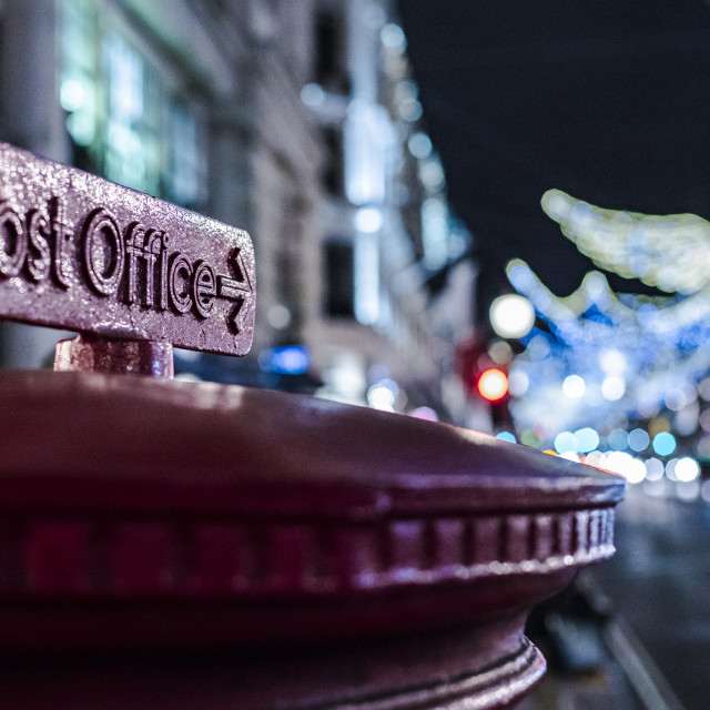 """Post office box Xmas"" stock image"