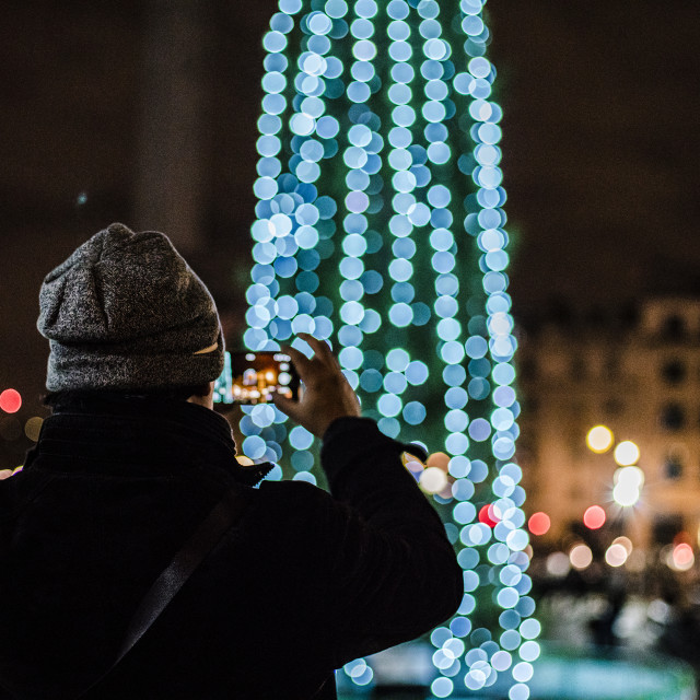 """Christmas Tree in Trafalgar Square"" stock image"