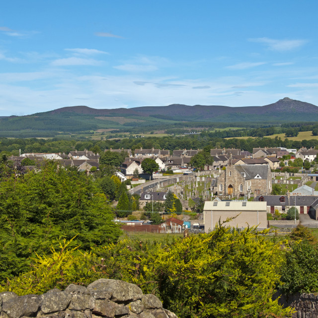 """Bennachie Kemnay View"" stock image"