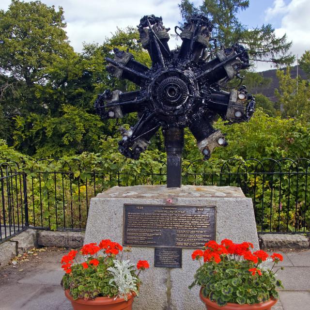 """""""Braemar Wellington Memorial"""" stock image"""