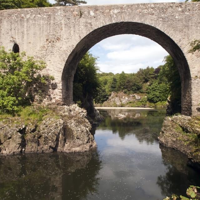 """""""Bridge Over Deveron"""" stock image"""