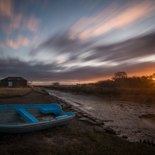 """Beaumont Quay November Sunrise"" stock image"