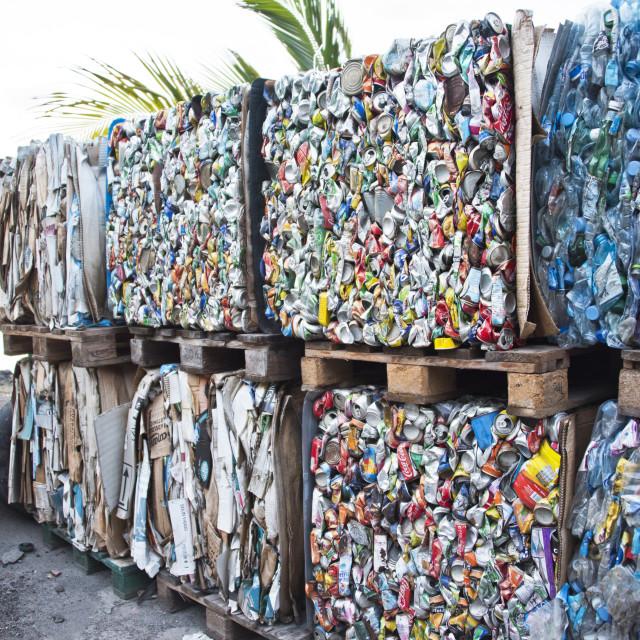 """Recycling plant: Les Saintes, Guadeloupe"" stock image"