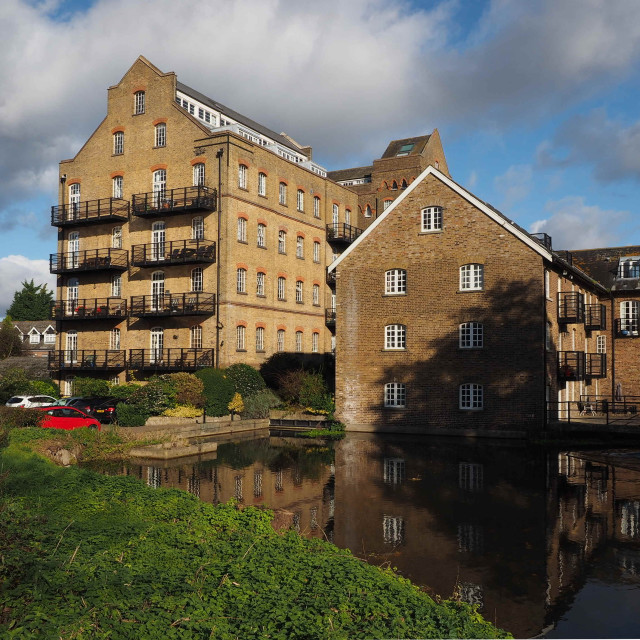 """Coxes Mill, River Wey Navigation"" stock image"