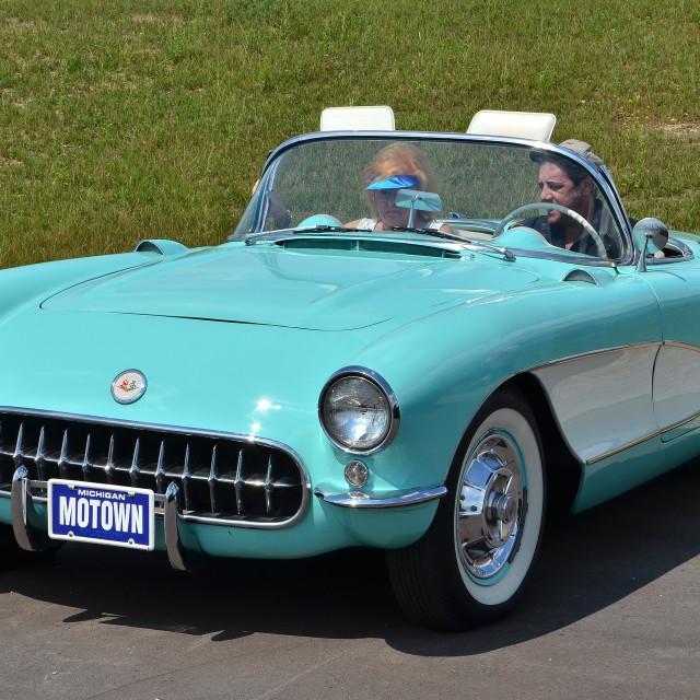 """""""Pristine 1957 Corvette"""" stock image"""