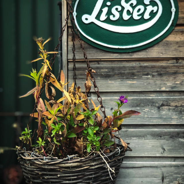 """""""Classic 'Lister' Sign"""" stock image"""