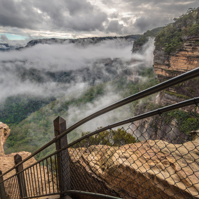 """""""The Blue Mountains"""" stock image"""