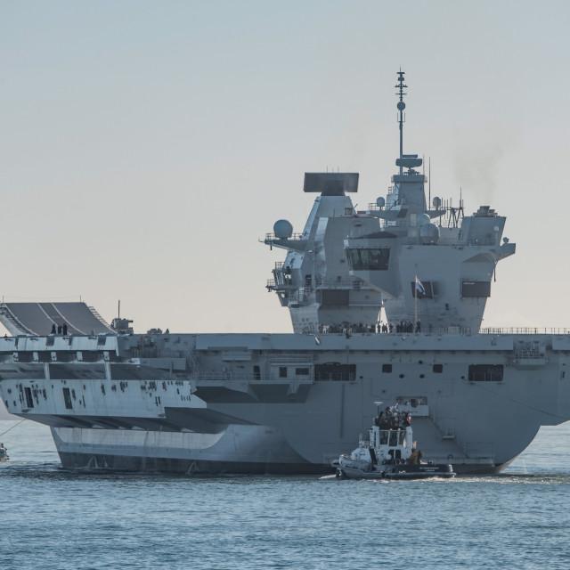 """HMS Queen Elizabeth"" stock image"