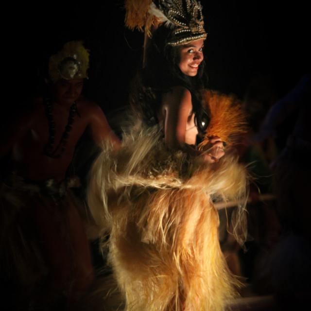 """""""Cook islands Dancer"""" stock image"""