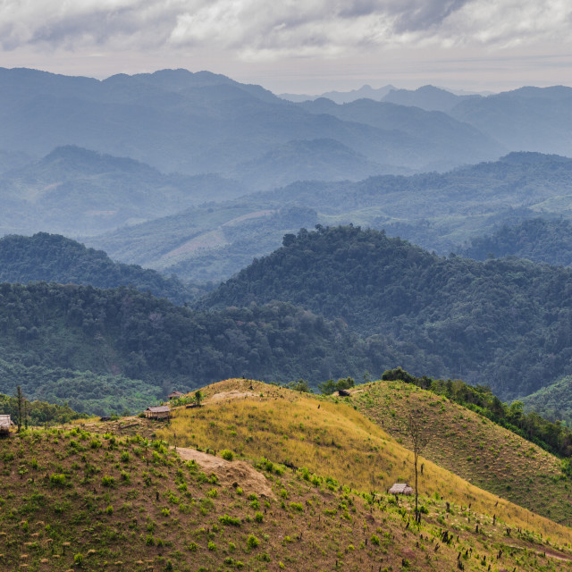 """""""The rolling Hills of Laos"""" stock image"""