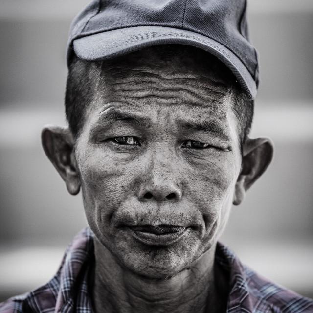 """Myanmar life of this man"" stock image"