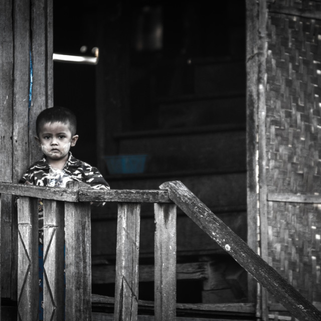 """""""A boy in a village"""" stock image"""