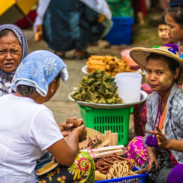"""The market life of Myanmar"" stock image"
