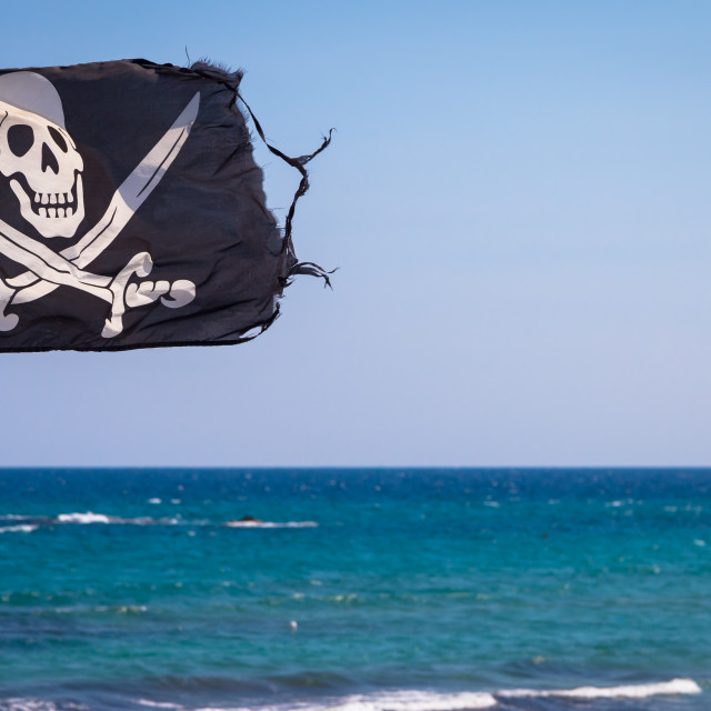 """Pirate flag"" stock image"