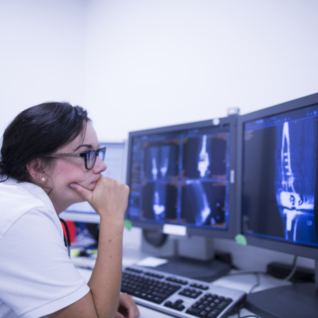 """Radiologist studying scans"" stock image"