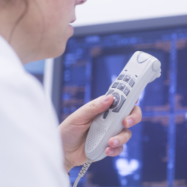"""Radiologist recording results"" stock image"