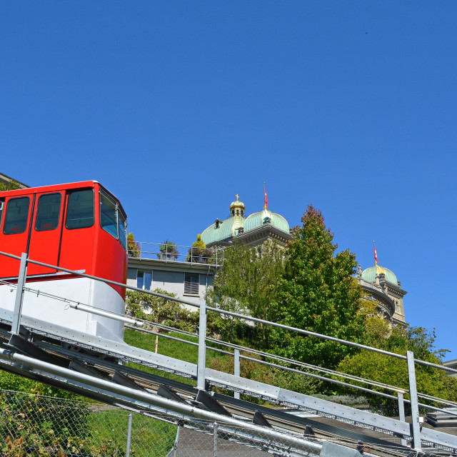 """""""Bern's Cable Car"""" stock image"""
