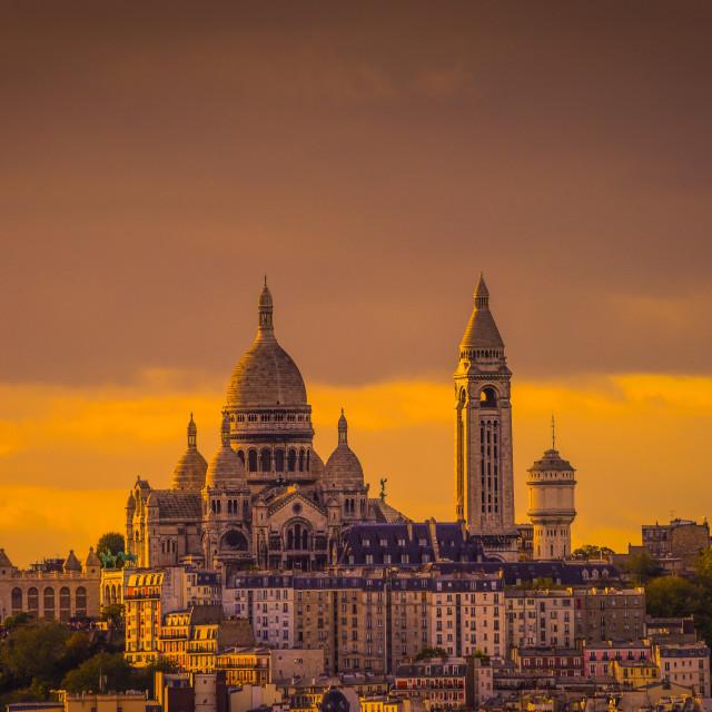 """""""Montmartre - Sacré Coeur, Paris"""" stock image"""
