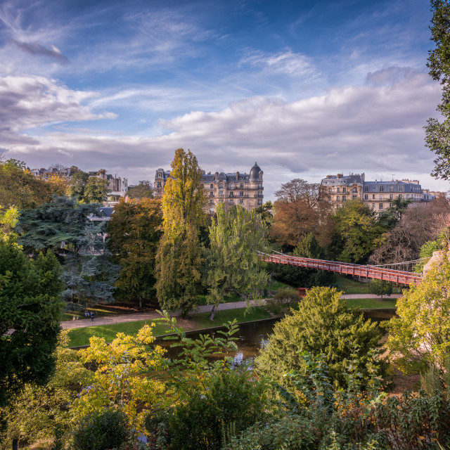 """Buttes Chaumont Park, Paris"" stock image"