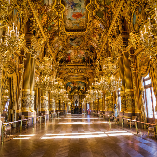 """Paris Opera House - Grand Foyer"" stock image"
