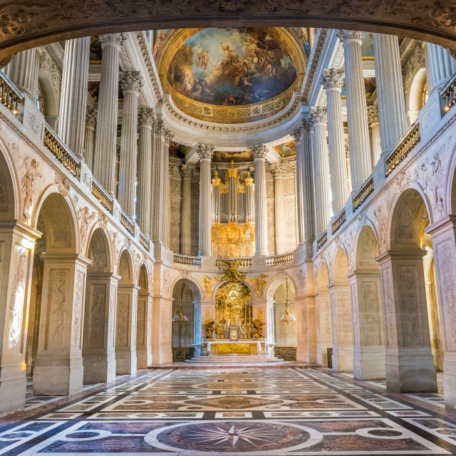 """Versailles Palace's Chapel"" stock image"
