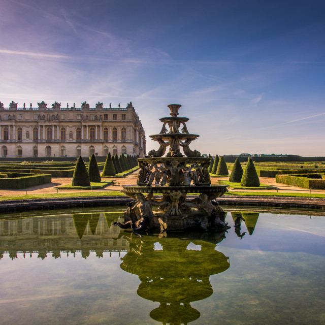 """The Gardens of the Versailles Palace, France"" stock image"
