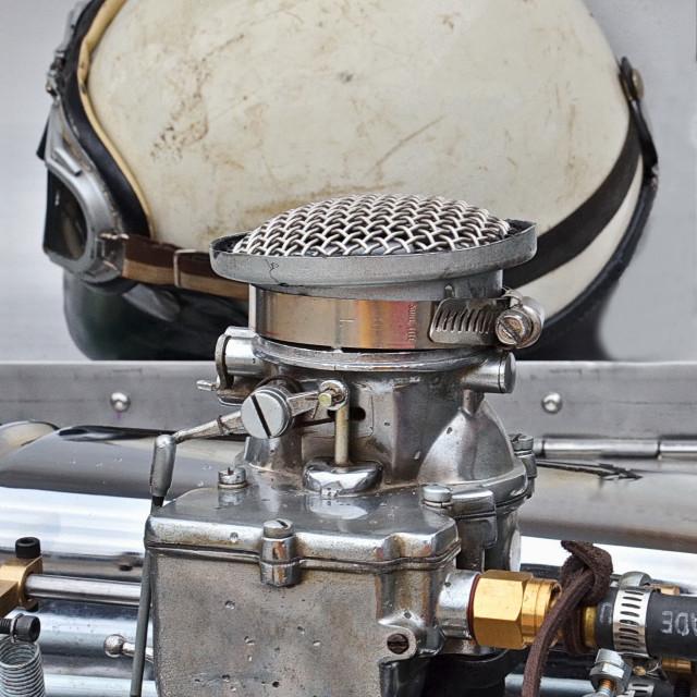 """1933 Indianapolis Car Engine Bay"" stock image"