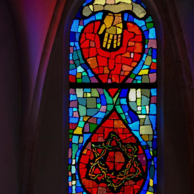 """Lutheran church, Jaffa, Israel"" stock image"