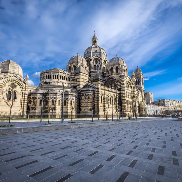 """""""Cathédrale de la Major, Marseille"""" stock image"""