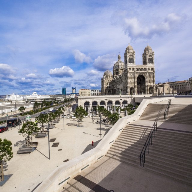 """Cathédrale de la Major, Marseille"" stock image"